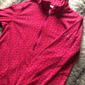 Woman's Columbia Pullover Fleece Jacket